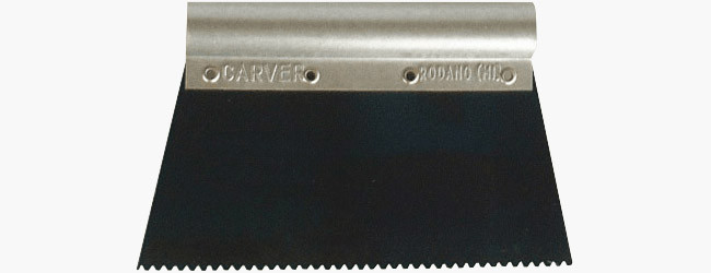 Metal spatula type A for glues wide-toothed